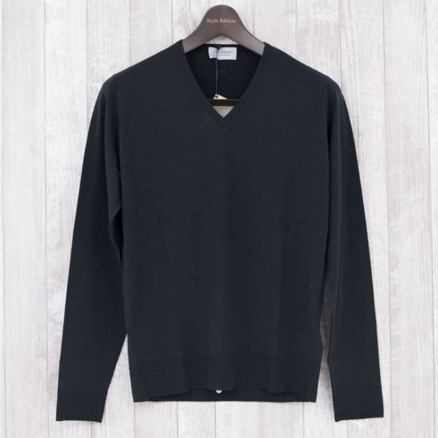John smedley lugano-BLACK  メリノウール100% Style Edition スタイルエディション