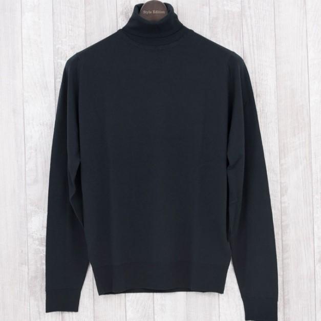 John smedley orta-BLACK タートルネック メリノウール100% Style Edition スタイルエディション