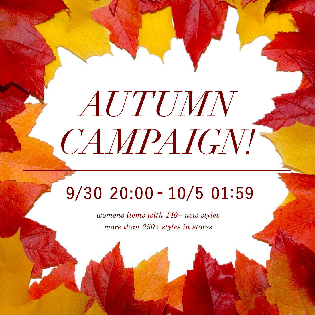 秋のスペシャル SALE キャンペーン